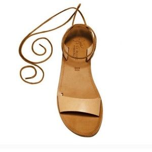 PERFECT CONDITION Joie nude lace up sandals